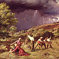 A Thunder Shower, 1859 Print by James Thomas Linnell