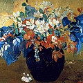 A Vase of Flowers Print by Paul Gauguin