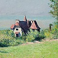A Villa at Trouville Print by Gustave Caillebotte