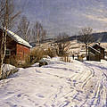 A Winter Landscape Lillehammer Poster by Peder Monsted