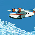 Above it all  the Grumman Goose Print by Gary Giacomelli