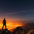 Above the Night Print by Evgeni Dinev
