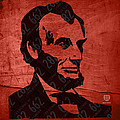 Abraham Lincoln License Plate Art Print by Design Turnpike