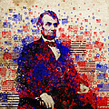 abraham lincoln with flags Print by MB Art factory
