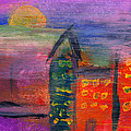 Abstract - Acrylic - Lost in the city Poster by Mike Savad