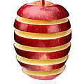 Abstract apple slices Print by Johan Swanepoel