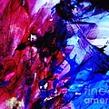 Abstract Blue and Pink Festival Print by Andrea Anderegg