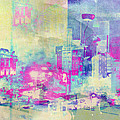 Abstract City Print by Mark-Meir Paluksht