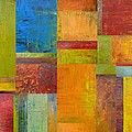 Abstract Color Study Collage ll Print by Michelle Calkins