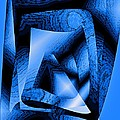Abstract Design in Blue Contrast Poster by Mario  Perez