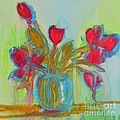 Abstract Flowers Print by Patricia Awapara