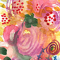 Abstract Garden #44 Print by Linda Woods