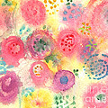 Abstract Garden #45 Print by Linda Woods