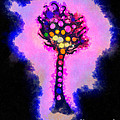 Abstract glowball tree Print by Pixel Chimp