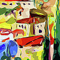 Abstract Italy Lago Di Como Poster by Ginette Callaway