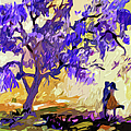 Abstract Jacaranda Tree Lovers Print by Ginette Fine Art LLC Ginette Callaway