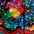 Abstract Landscape Colorful Contemporary Painting by Megan Duncanson Brilliance in the Sky Print by Megan Duncanson