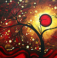 Abstract Landscape Glowing Orb by MADART Poster by Megan Duncanson