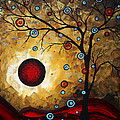 Abstract Original Gold Textured Painting FROSTED GOLD by MADART Poster by Megan Duncanson
