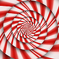 Abstract - Spirals - The power of mint Print by Mike Savad