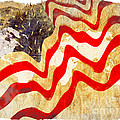 Abstract USA Flag Print by Stefano Senise