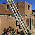 Acoma Pueblo Adobe Homes 3 Poster by Mike McGlothlen