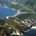 Aerial  of Acapulco Bay Mexico from Both Sides Poster by Jodi Jacobson