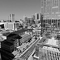 Aerial Photography Downtown Nashville Print by Dan Sproul