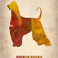Afghan Hound Poster Print by Irina  March