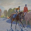 After The Race Print by Terry Perham