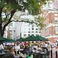 Afternoon at Faneuil Hall Print by Jeff Kolker