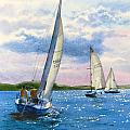 AFTERNOON SAIL Poster by Karol Wyckoff