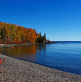 Agate Beach on Lake Superior Print by Steve Anderson
