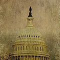 Aged Capitol Dome Poster by Terry Rowe