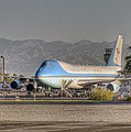 Air Force One in Palm Springs Print by Matthew Bamberg