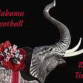 Alabama Football Roll Tide Print by Kathy Clark