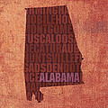 Alabama Word Art State Map on Canvas Print by Design Turnpike