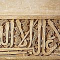 Alhambra wall detail4 Poster by Jane Rix
