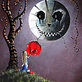 Alice And The Dripping Rose by Shawna Erback Print by Shawna Erback