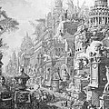 Allegorical Frontispiece of Rome and its history from Le Antichita Romane  Print by Giovanni Battista Piranesi