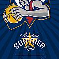 Amateur Summer Basketball League Open Poster Poster by Aloysius Patrimonio