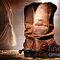 American Cowboy Boots Print by Olivier Le Queinec