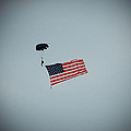 American Flag in the Sky Print by Aimee L Maher