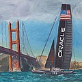 Americas Cup by the Golden Gate by James Lopez