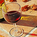 An Autumn Glass of Red Poster by Nomad Art And  Design