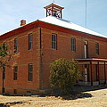 AN OLD SCHOOL IN WHITE OAKS NEW MEXICO Print by Jeff  Swan