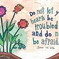 And do not be afraid Poster by Dana Sorrell
