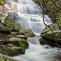 Angels at Benton Waterfall Poster by Debra and Dave Vanderlaan