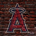Angels Baseball Graffiti on Brick  Poster by Movie Poster Prints
