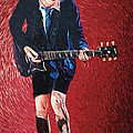 Angus Young Poster by Taylan Soyturk